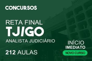 Reta Final Analista Judiciário - Área Judiciária - TJ/GO | 04.10.2021