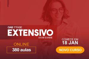 Extensivo OAB - Turma 1 - Janeiro/21